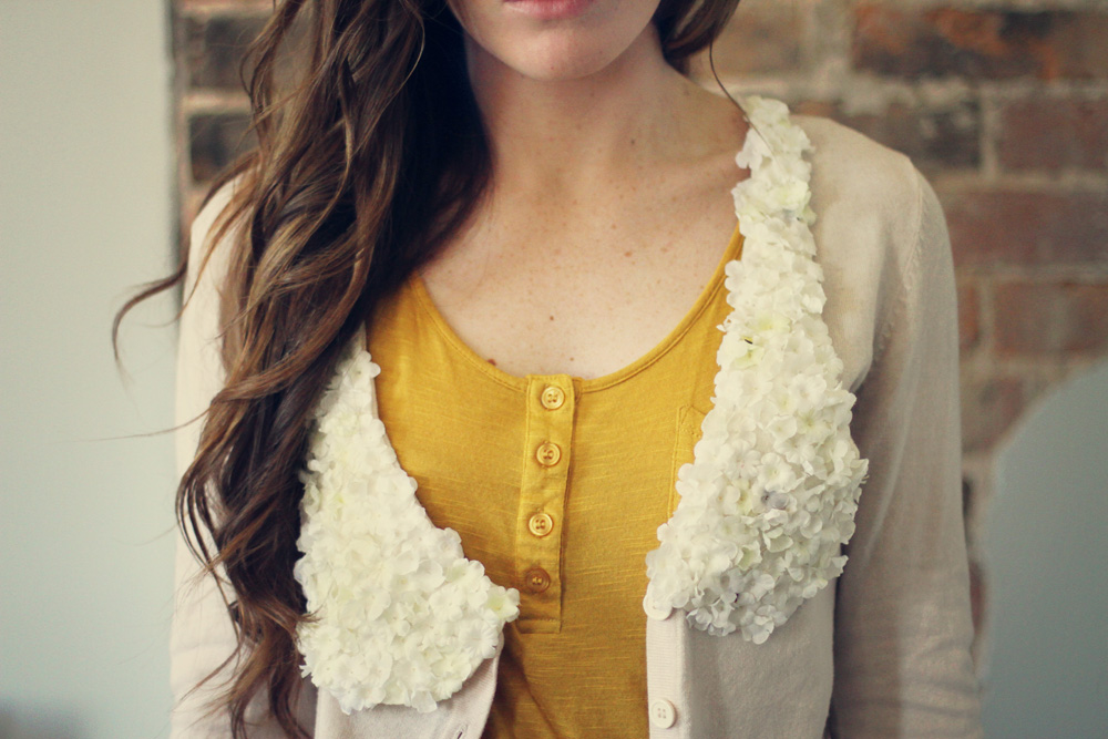 floral collar DIY 1