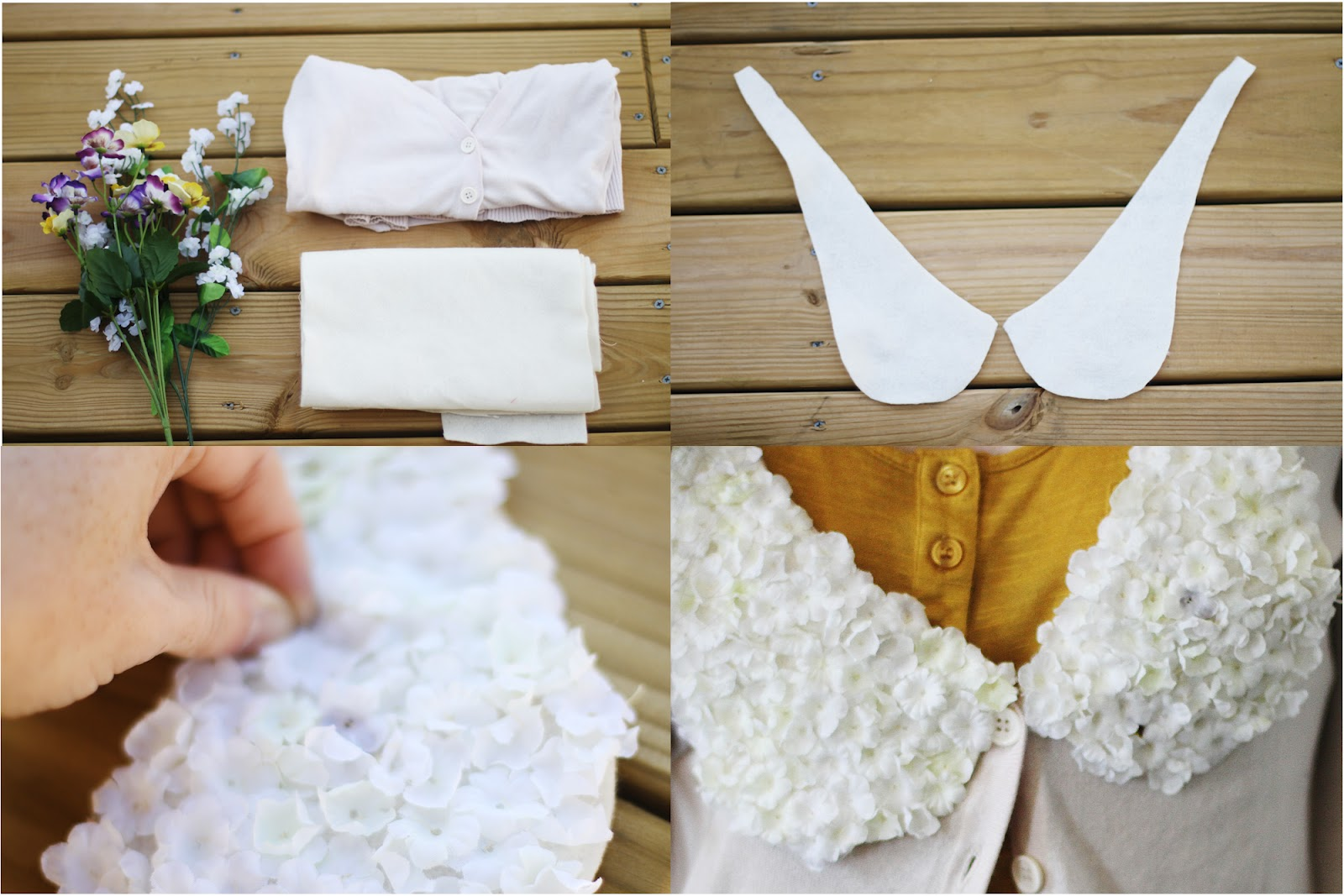 floral collar DIY steps