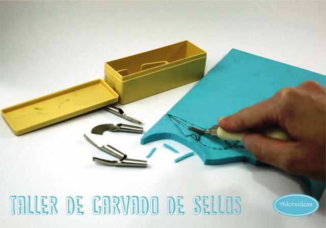 carvado-sellos-adoraideas-taller-sevilla-materiales-gubias