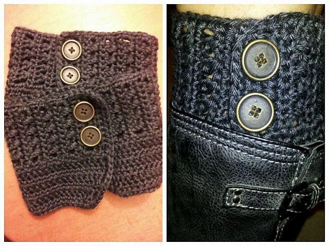 Calcetines de punto y ganchillo para botas blog - Como hacer calcetines de punto ...