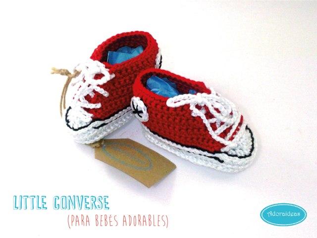 converse roja bebe