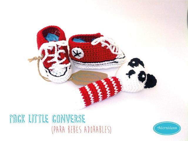 pack-converse-rojas-patucos-bebe-sonajero-ganchillo-adoraideas-1