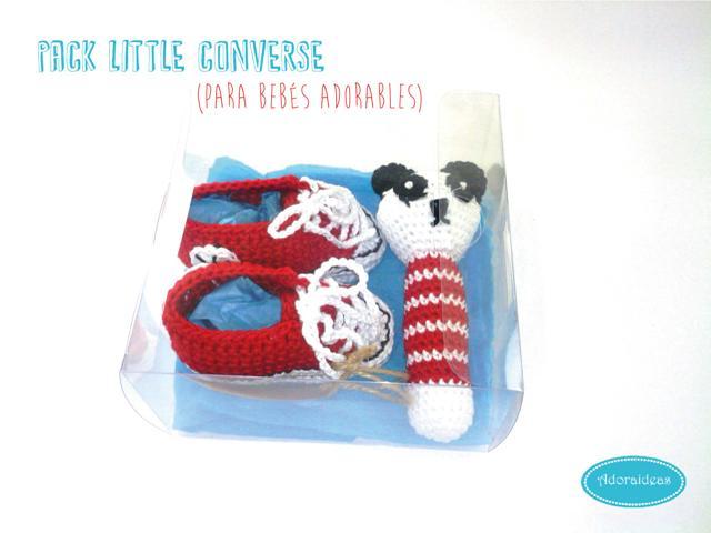 pack-converse-rojas-patucos-bebe-sonajero-ganchillo-adoraideas-2
