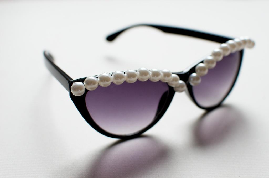 DIY gafas perlas