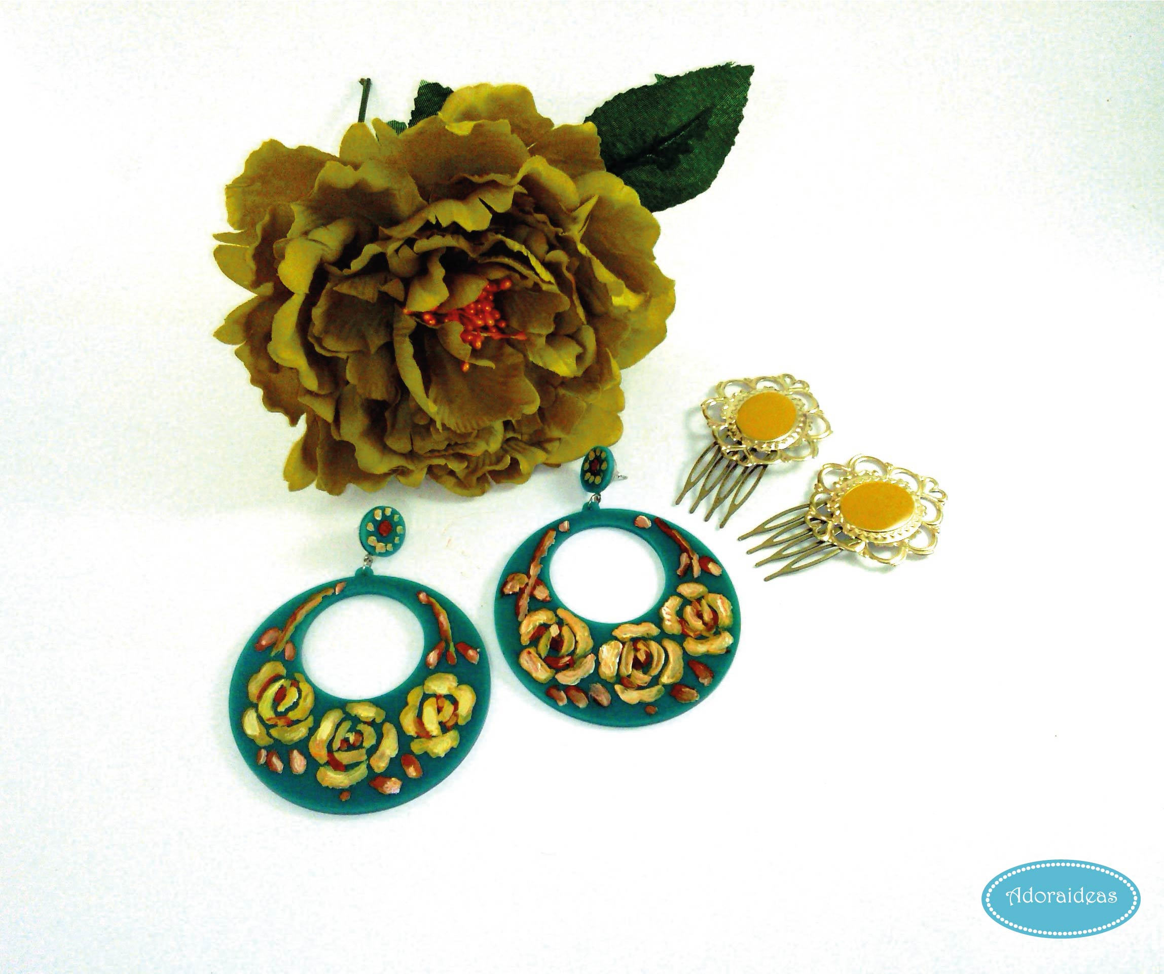 pendientes-pintados-a-mano-peinecillos-feriadeabril-adoraideas-handmade-diy