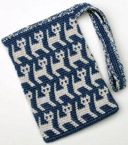 TapestryCrochetKittyBag
