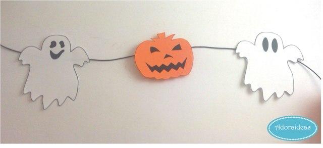Diy guirnalda y deco para halloween manualidades for Guirnaldas para imprimir