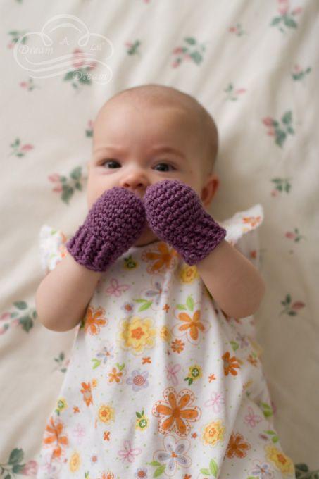 bebe guantes punto