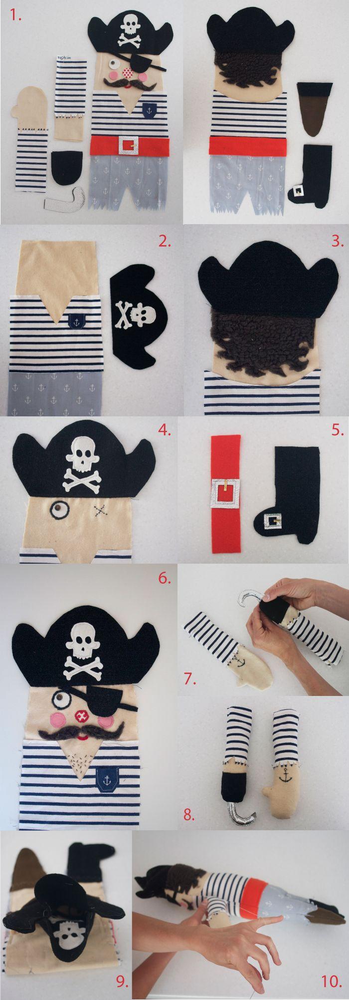 muñeco trapo pirata