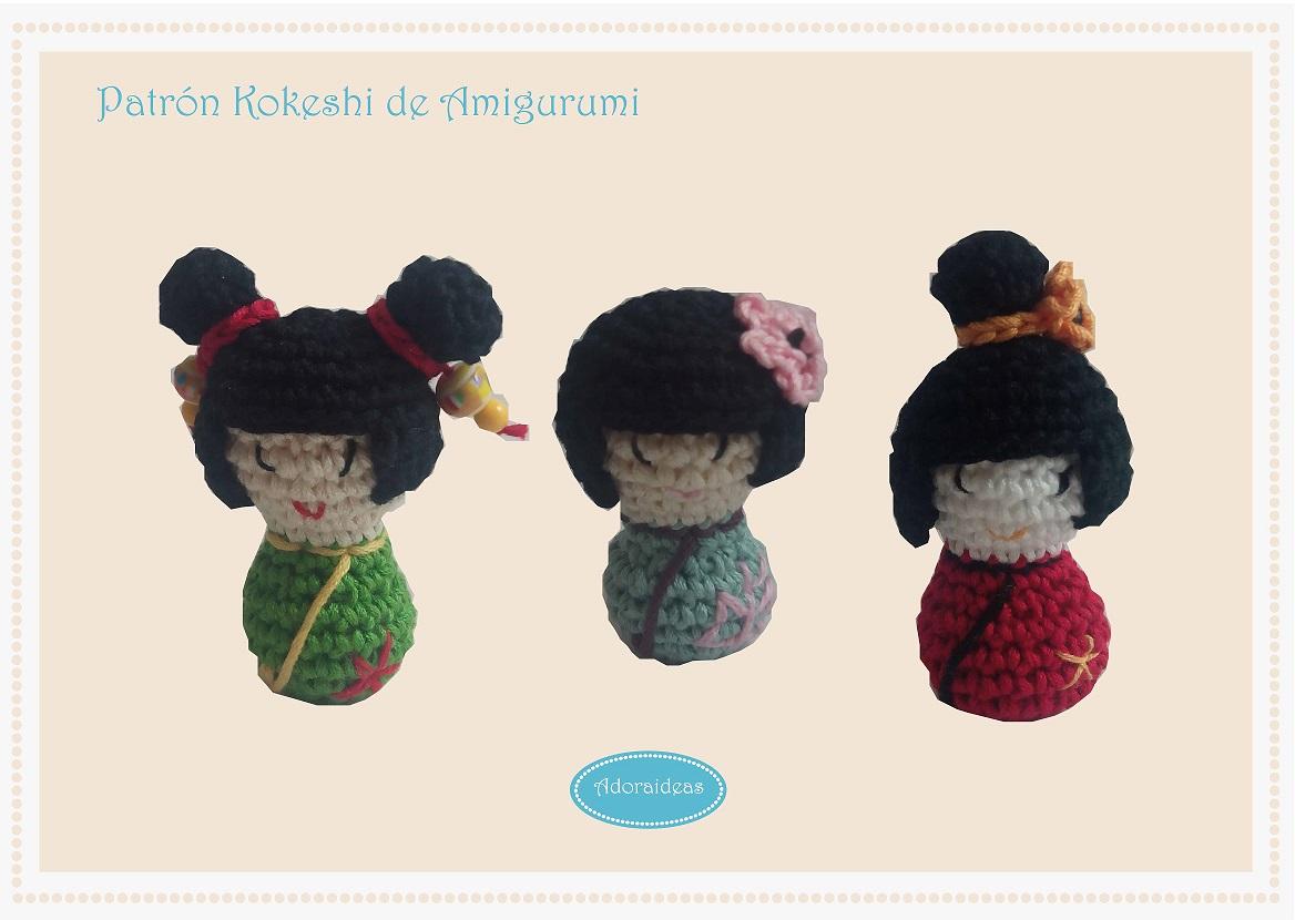 Amigurumi Kokeshi Patron : Muneca Kokeshi de Amigurumi (Patron) - Blog AdoraideasBlog ...