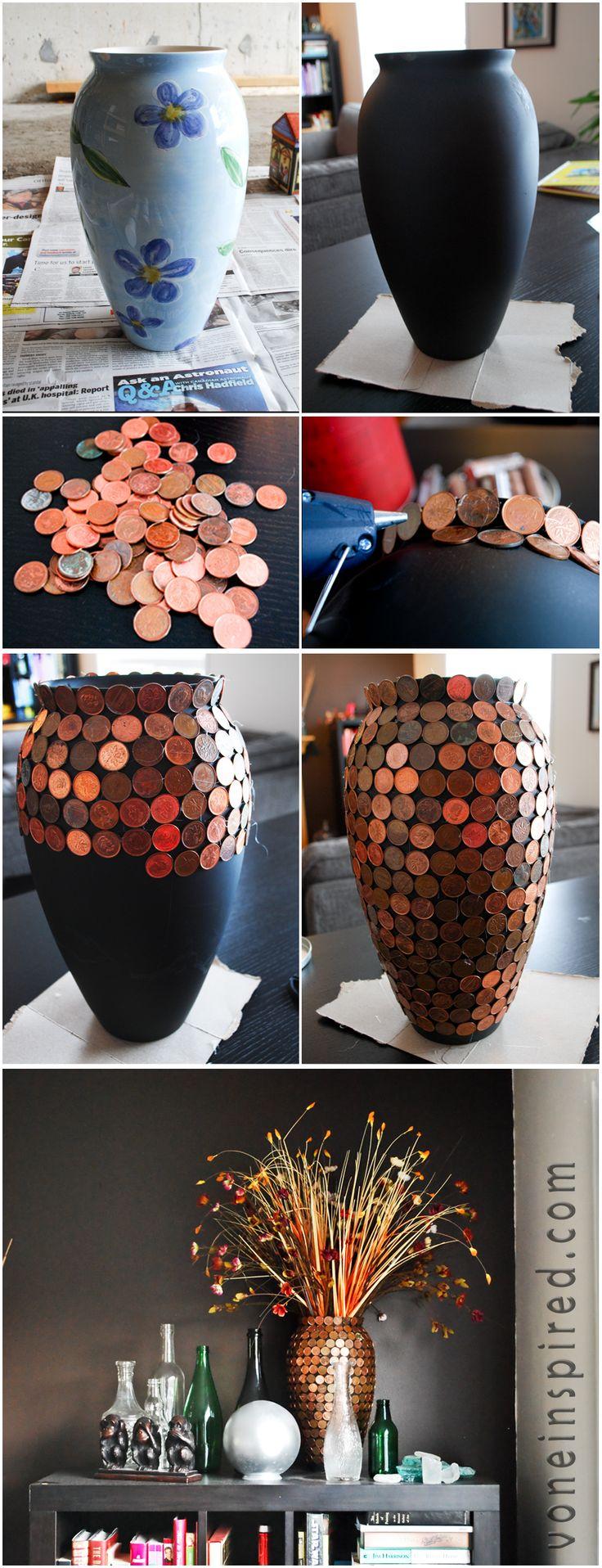 diy jarron monedas