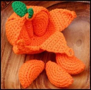 naranja amigurumi trapillo